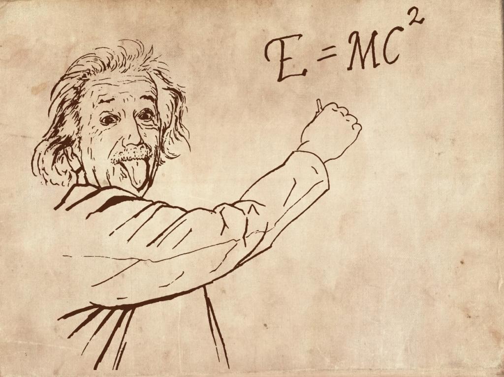 历史名人相对论爱因斯坦图片素材爱因斯坦头像吐舌头钢笔手绘