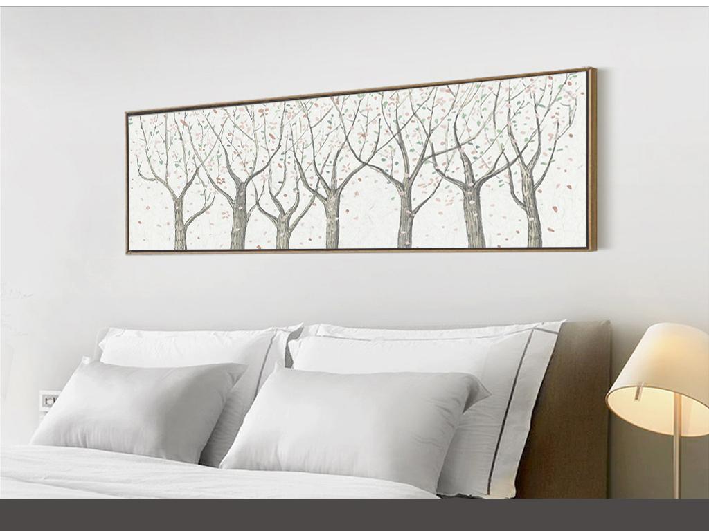 背景墙|装饰画 无框画 抽象图案无框画 > 手绘幸福树发财树日系森林