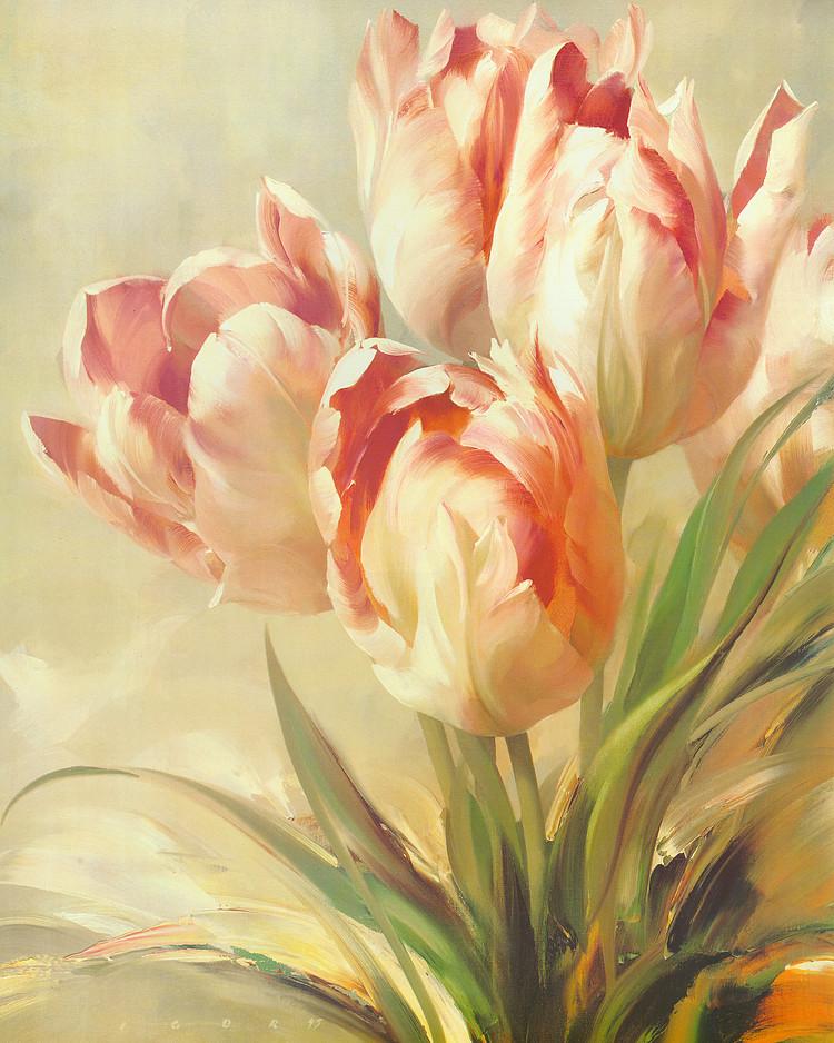 欧式家装工装花卉装饰画美克美家室内挂画