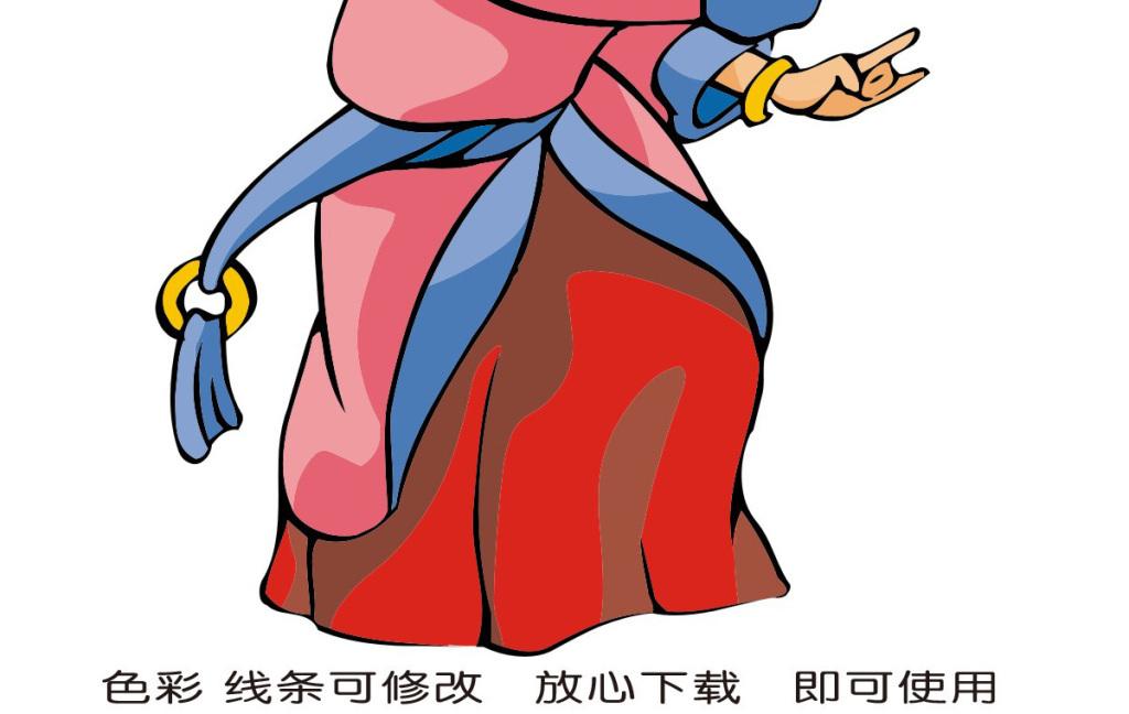 卡通女生手绘人物图片