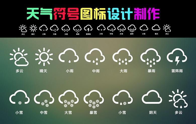 天气符号设计制作微信天气符号素材 psd图片下载 3.79MB UI 界面大全