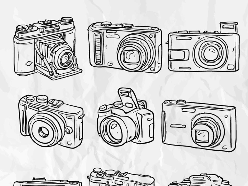 照相机插画