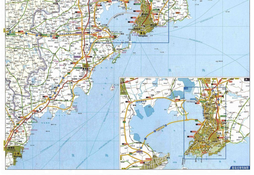 青岛市地图高清版大图