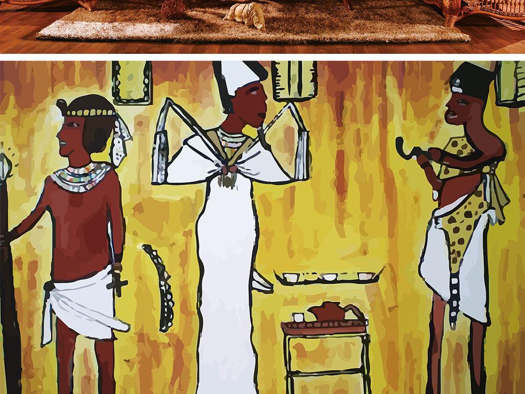背景墙|装饰画 电视背景墙 电视背景墙 > 埃及法老金字塔壁  版权图片