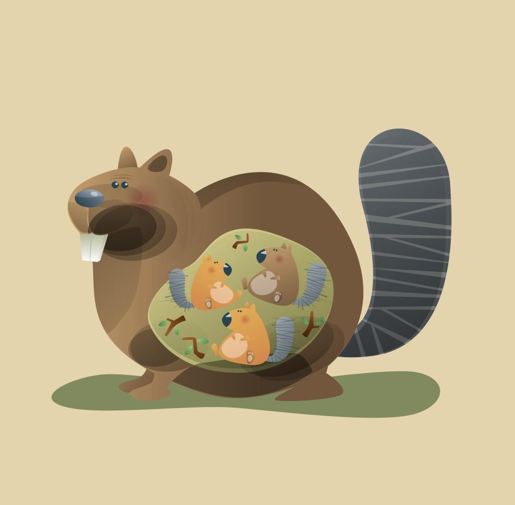 卡通动物图案松鼠