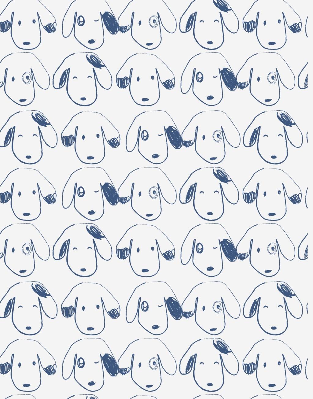 卡通动物图案面料印花小狗