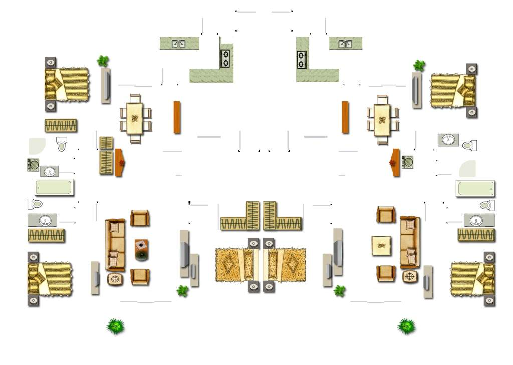 室内设计平面图素材家居图 位图, cmyk格式高清大图,使用软件为