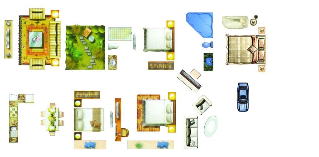 室内设计平面图素材家居图