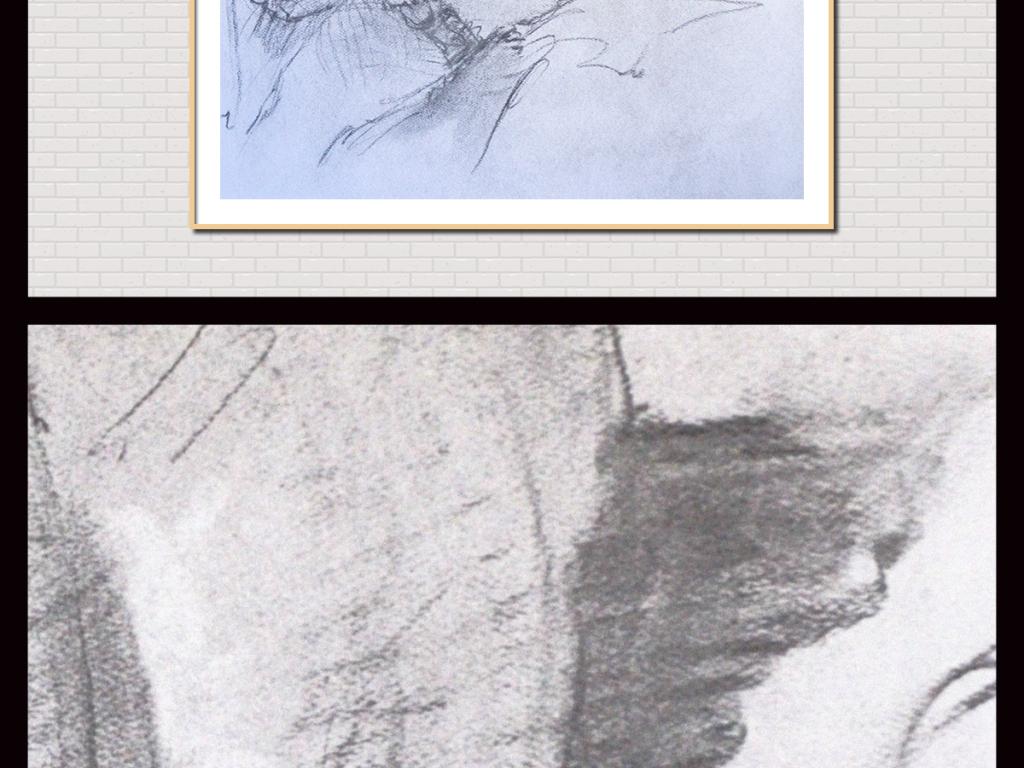 手绘女性人体写生(图片编号:15302908)_人物无框画_我