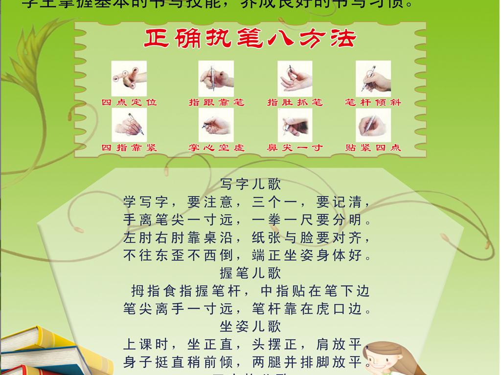小学生汉字书写规范展板海报设计图片