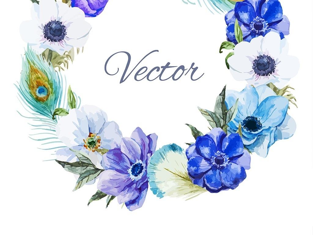 花环                                  水彩手绘绘画元素多肉