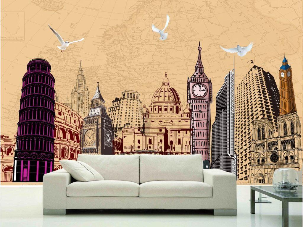 世界著名建筑手绘拼图