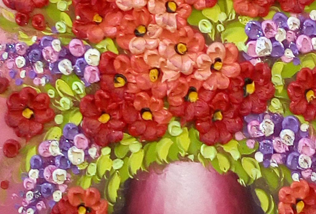 手绘古风花朵电脑壁纸