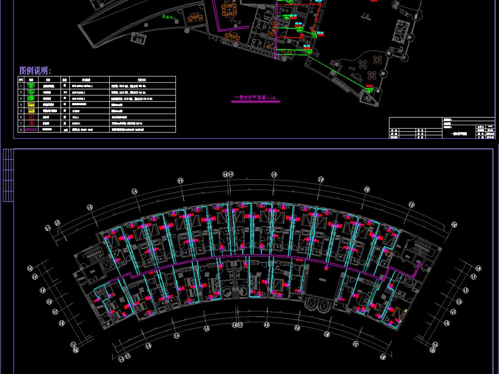 酒店宾馆cad竣工图平面图系统图综合布线监控安防广播背景音乐机房