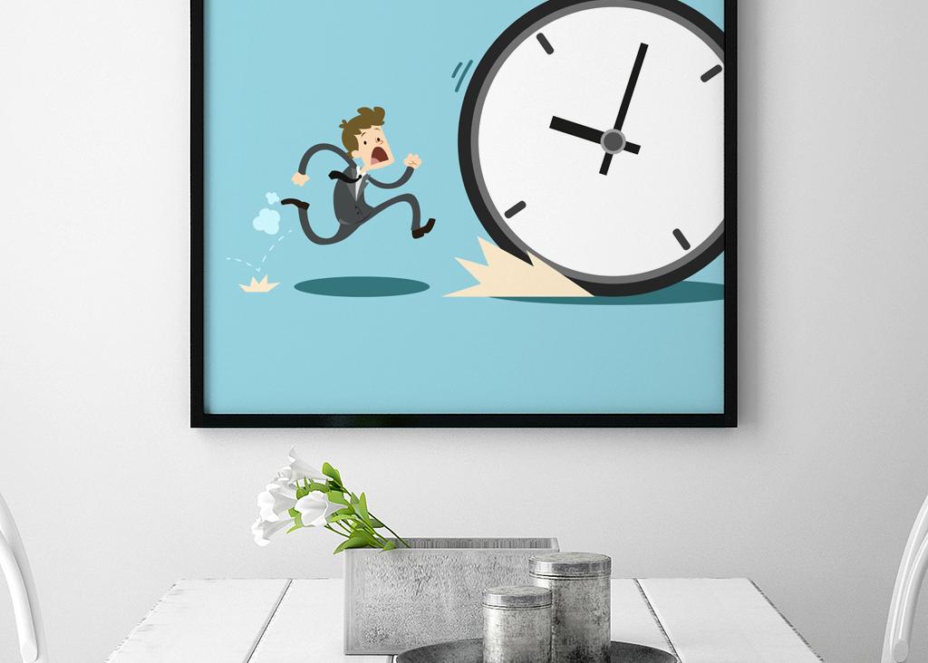励志企业文化创意挂画-珍惜时间