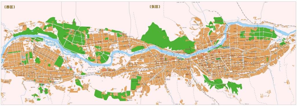 兰州市城区地图高清版大图