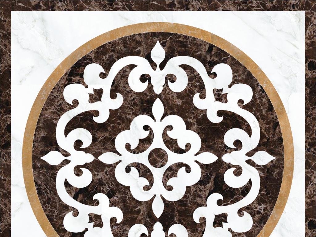 psd)水刀拼花地板图案花纹花边陶瓷花纹地毯花纹家装大理石拼花瓷砖花图片