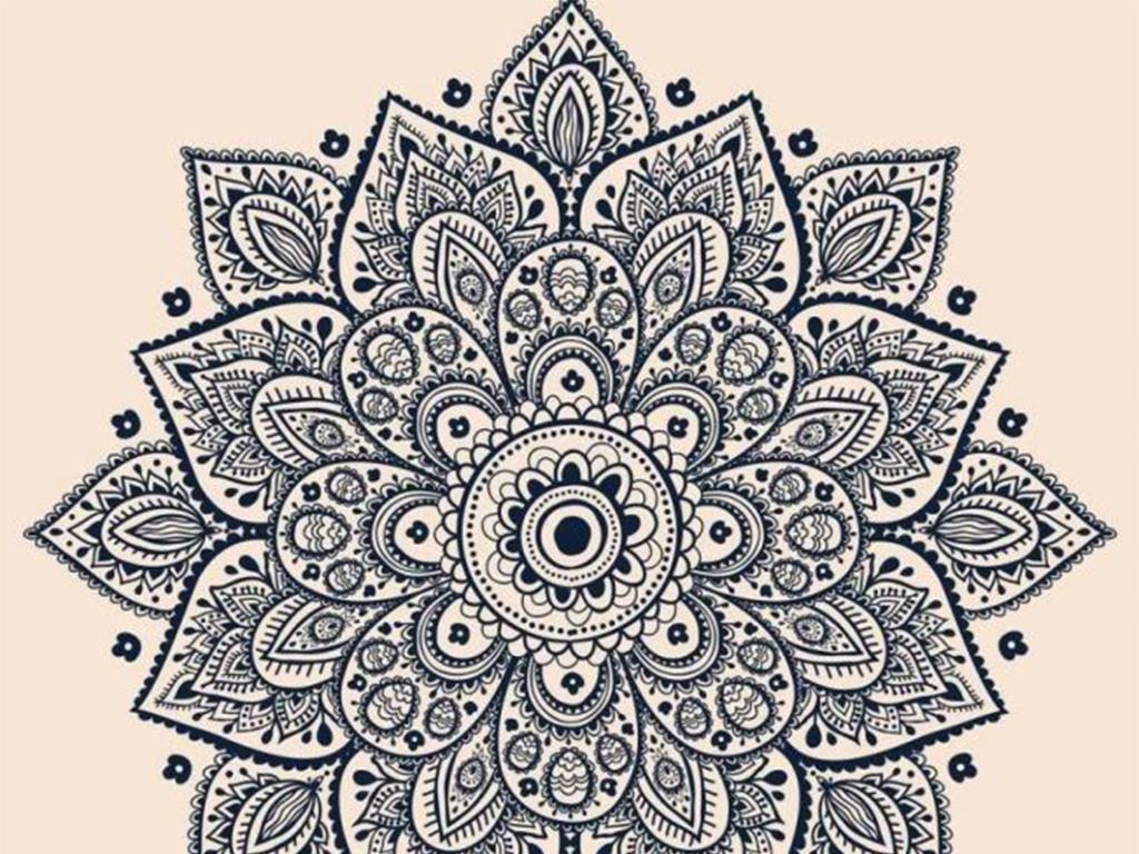 手绘欧式花纹花朵图片