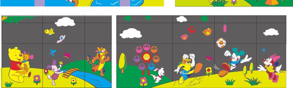 玻璃贴画幼儿园