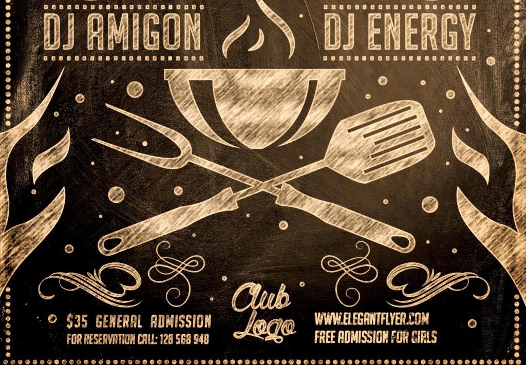 广告设计 海报设计 餐饮海报 > 怀旧复古创意黑板粉笔涂鸦餐厅烧烤图片