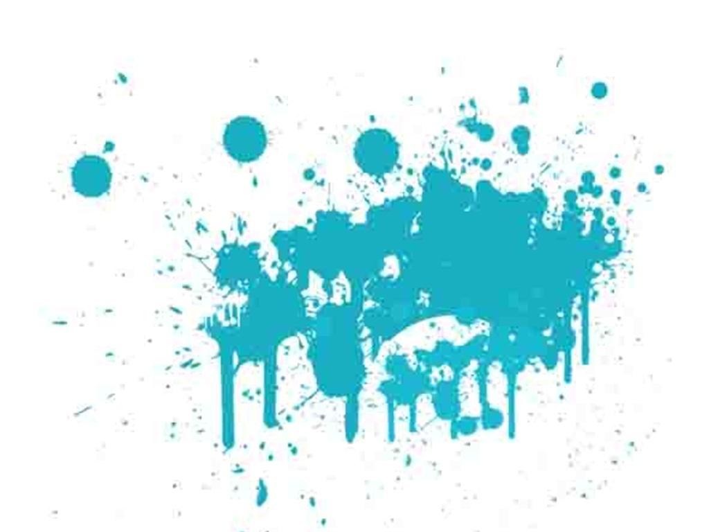 蓝色泼墨喷绘涂鸦