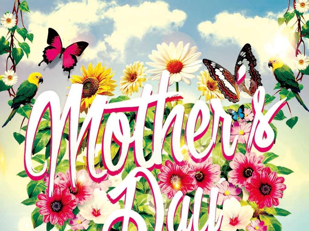 清新唯美手绘花卉感恩母亲节创意宣传海报