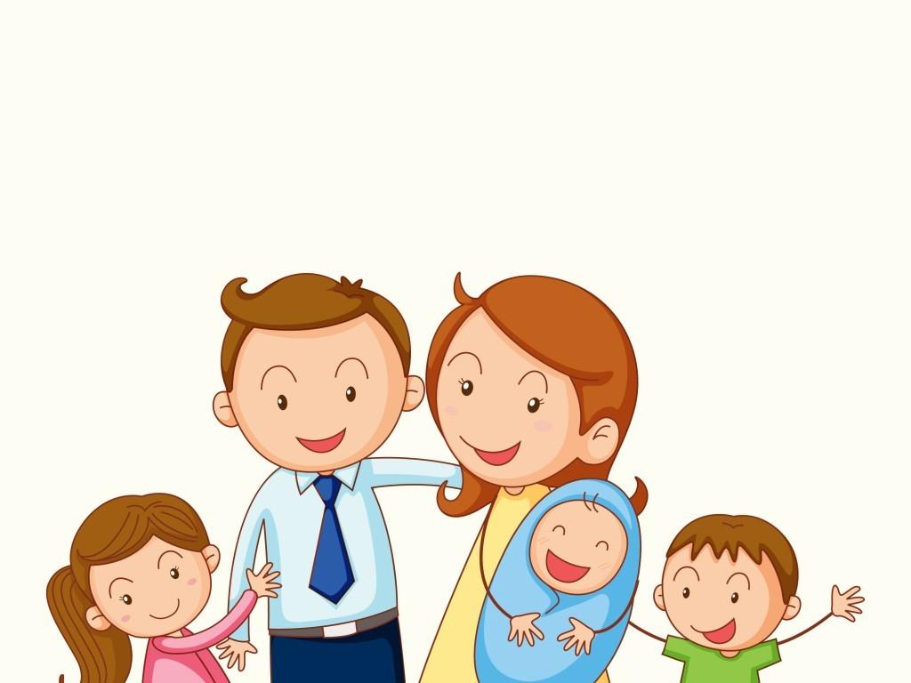 平面|广告设计 其他 插画|元素|卡通 > 矢量人物全家福插画图片