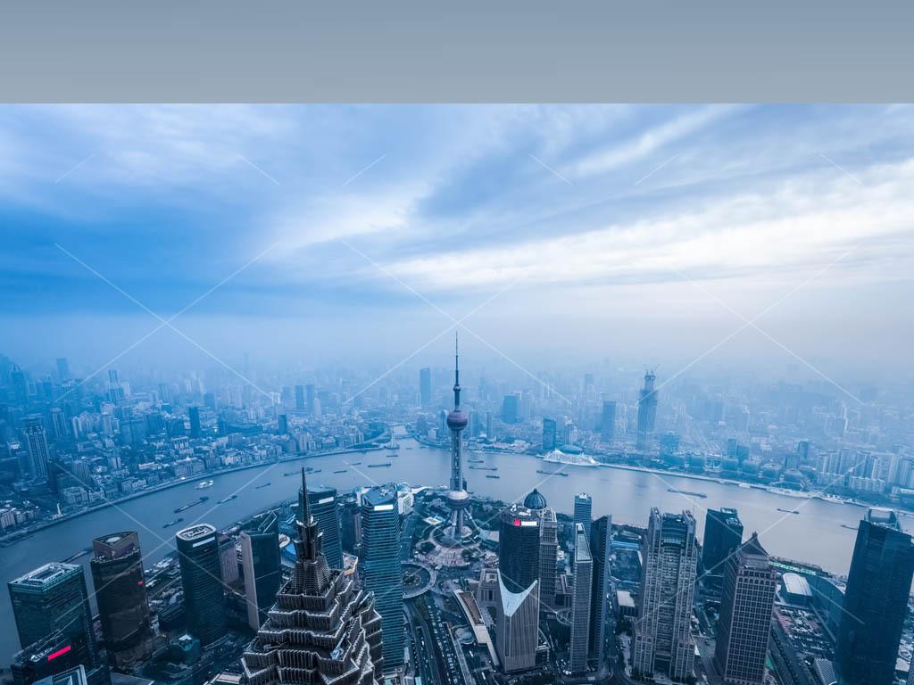 浦东新区陆家嘴黄浦江上海城市风光摄影图片下载素材 装饰图案图片