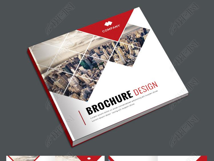 红色大气企业画册公司宣传册广告画册