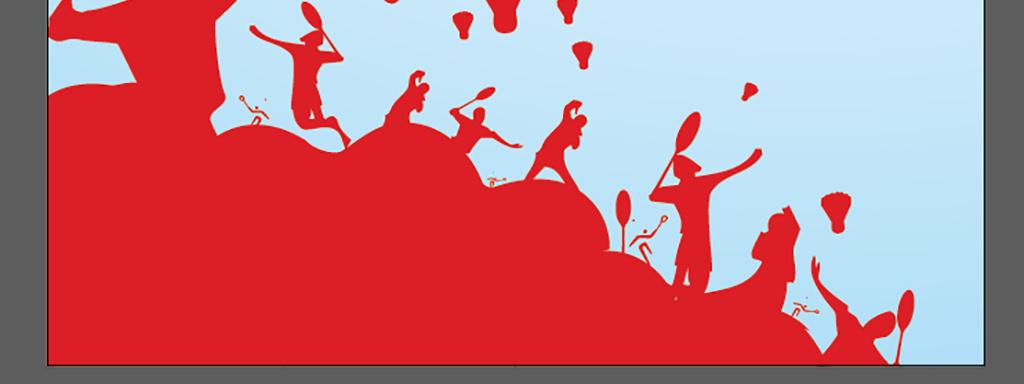 羽毛球俱乐部招生羽毛球培训班暑期海报图片