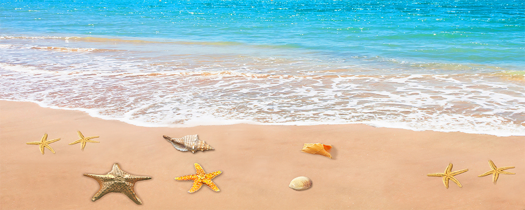 3d海洋沙滩背景墙图片