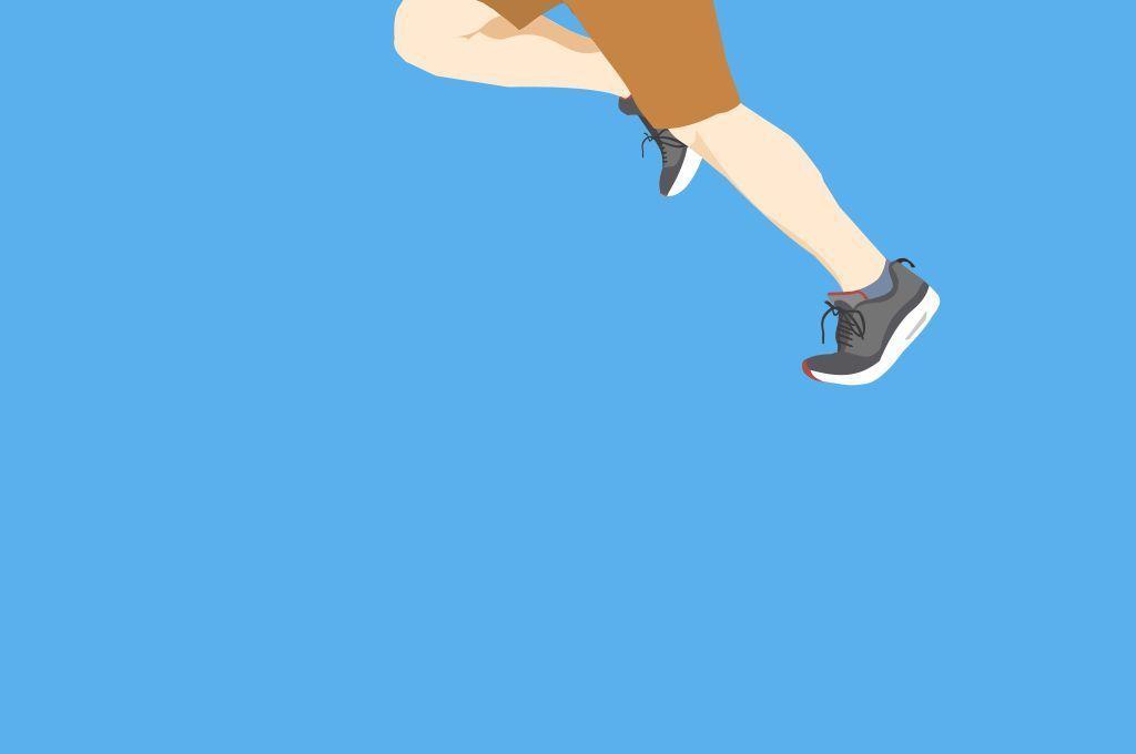 奔跑的人物矢量插画
