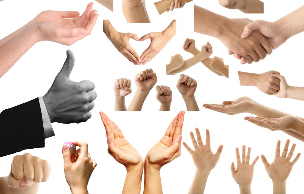 手的姿势手的动作手势素材