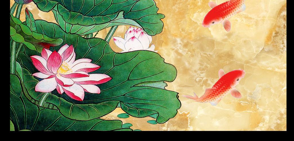 荷花                                  锦鲤
