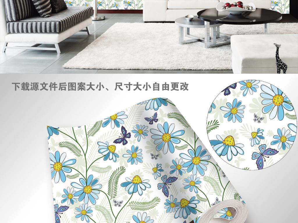 中国风简约大气花鸟图案高清墙纸