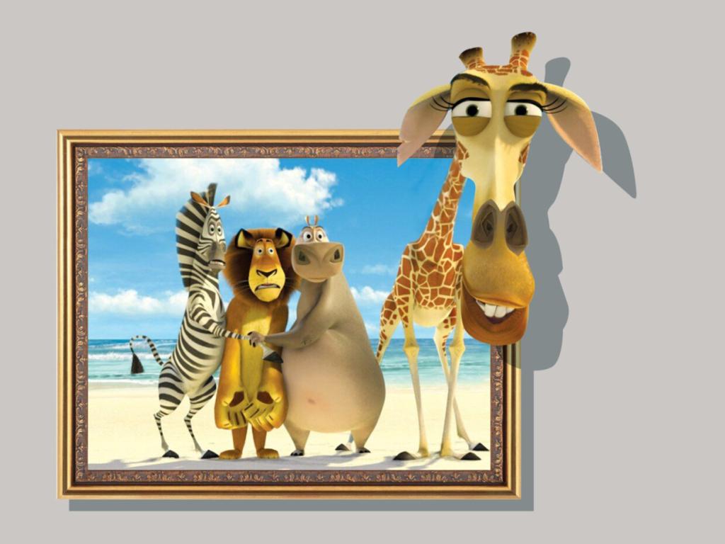 3d墙画动物城