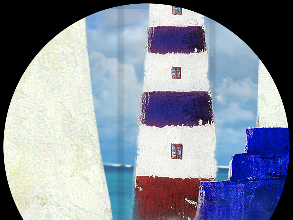 帆船灯塔航海电视背景墙