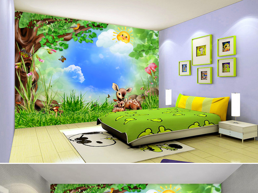 我图网提供精品流行卡通森林动物儿童房壁画背景墙素材下载,作品模板源文件可以编辑替换,设计作品简介: 卡通森林动物儿童房壁画背景墙 位图, RGB格式高清大图,使用软件为 Photoshop CC(.psd) 3D