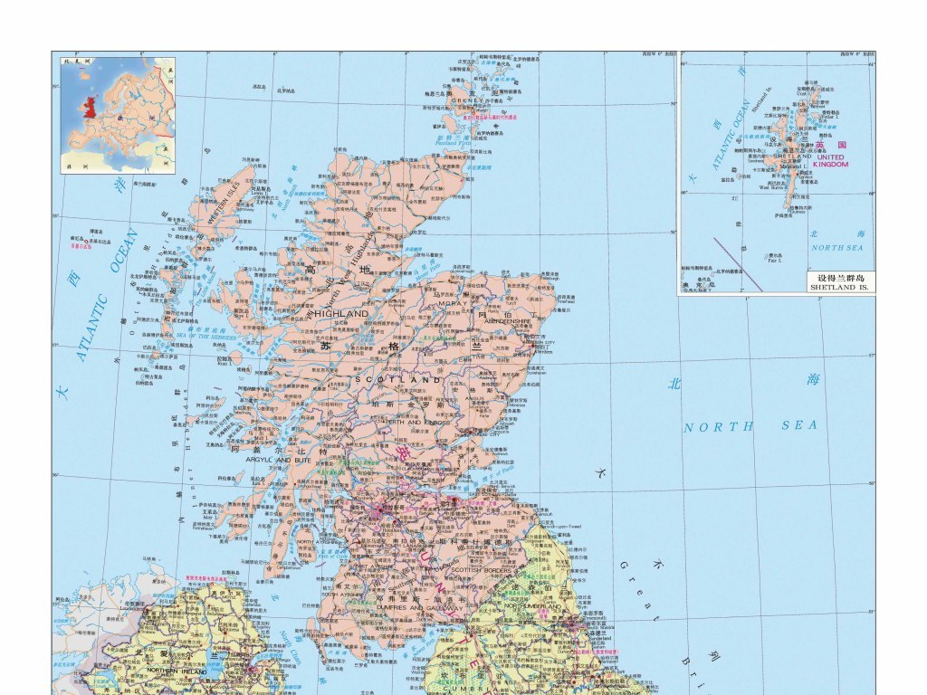 英国地图高清版全图