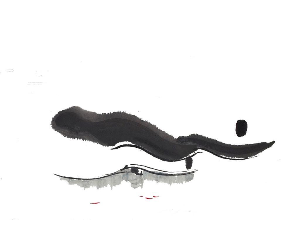 新中式抽象水墨山水风景画图片