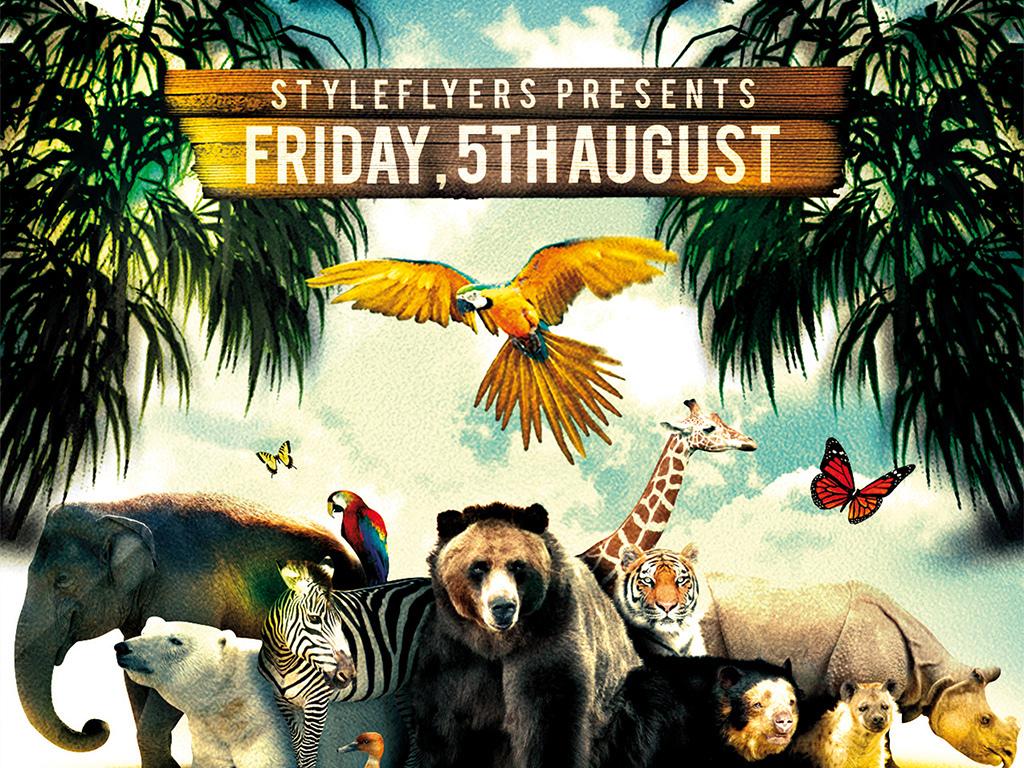 平面|广告设计 海报设计 国外创意海报 > 野生天堂动物世界自然乐园