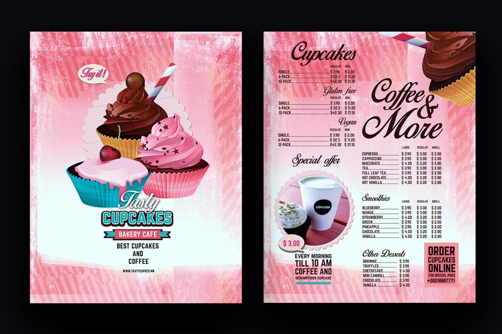 蛋糕店甜品店美食促销海报宣传单psd模板图片