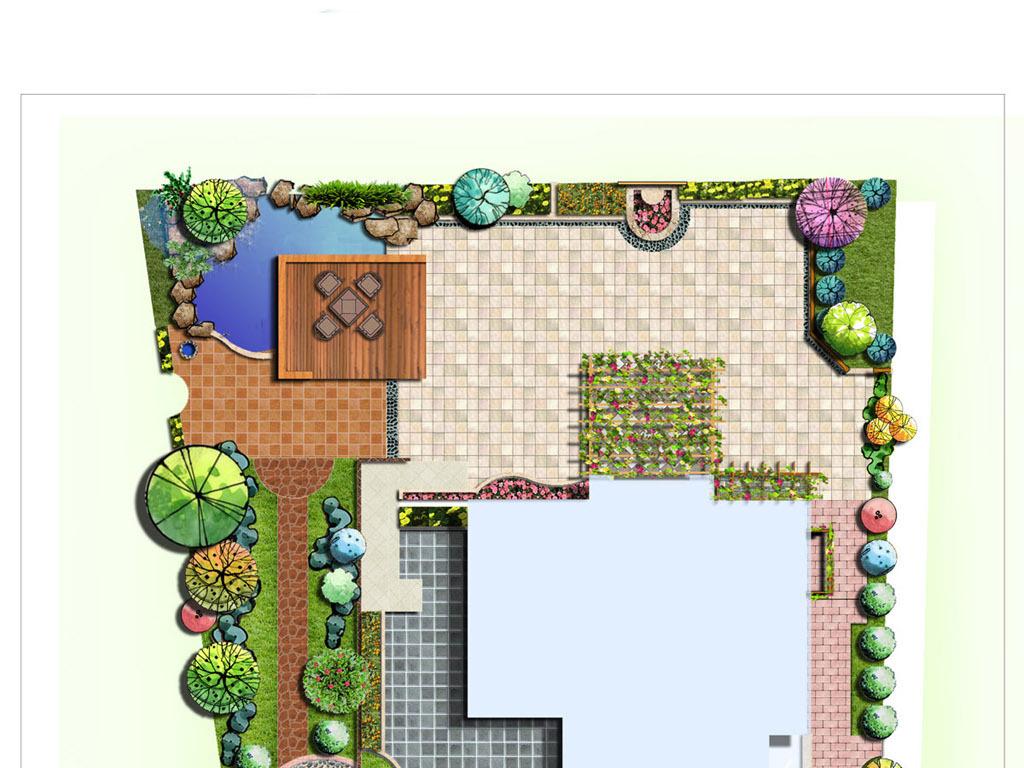花园设计平面