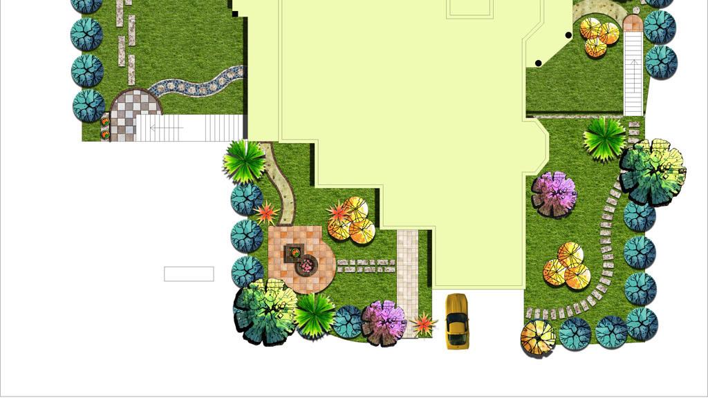 私家花园设计ps素材