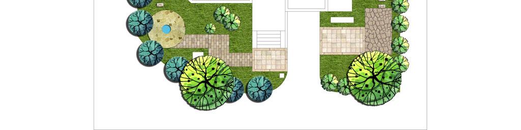 别墅花园设计平面图psd分层素材