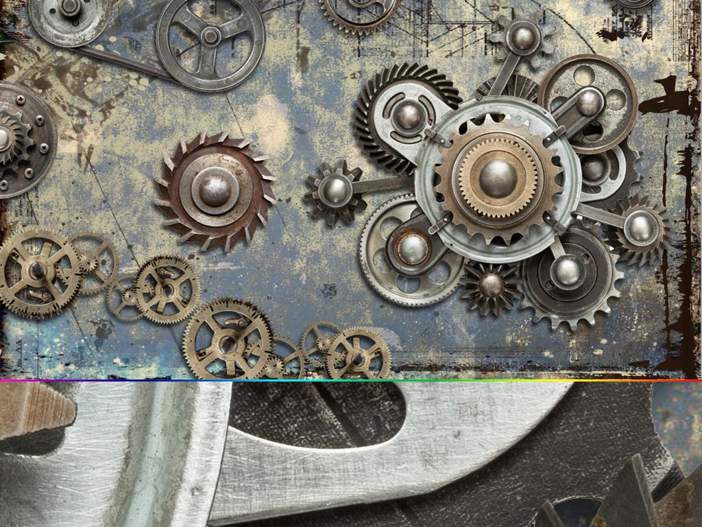 创意欧美复古工业机械齿轮酒吧ktv背景墙