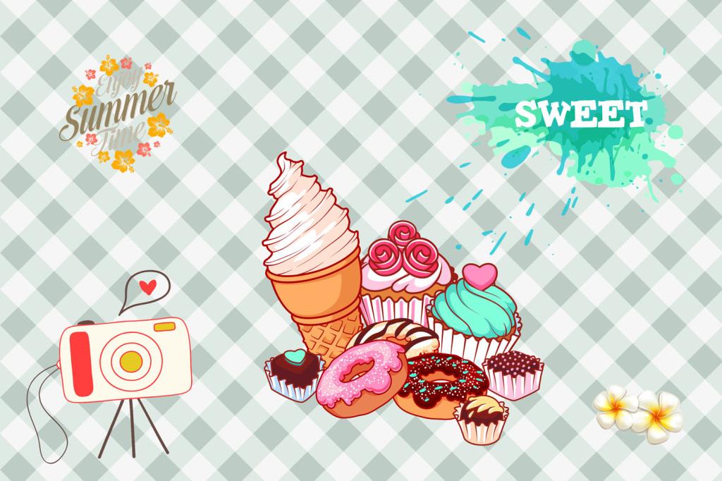 冰淇淋甜点蛋糕背景墙