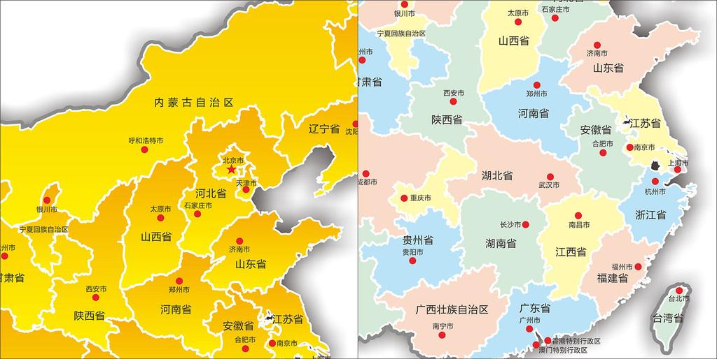 中国地图cdr矢量