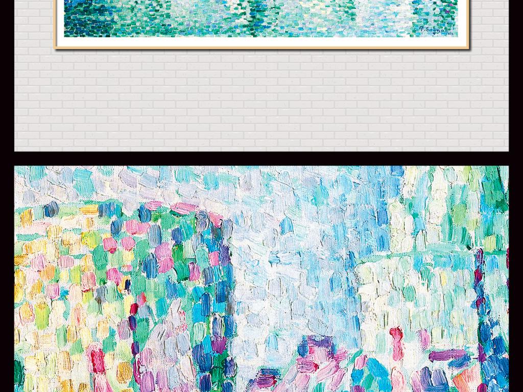 手绘复古做旧铅笔风景素描写生插画无框画高清图片
