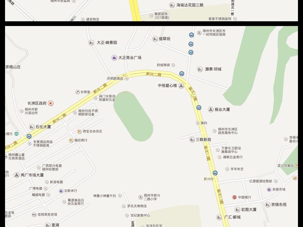2016高清梧州市电子地图